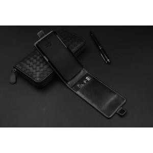Кожаный чехол вертикальная книжка на пластиковой основе с магнитной застежкой и отделением для карты для ASUS Zenfone 4
