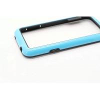 Силиконовый бампер для Samsung Galaxy S5 Mini Голубой