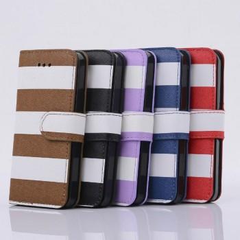 Дизайнерский чехол портмоне подставка на пластиковой основе для Samsung Galaxy S5 Mini