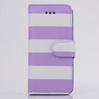 Дизайнерский чехол портмоне подставка на пластиковой основе для Samsung Galaxy S5 Mini Фиолетовый