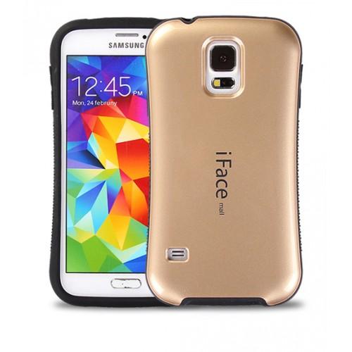Силиконовый эргономичный чехол с нескользящими гранями для Samsung Galaxy S5 Mini