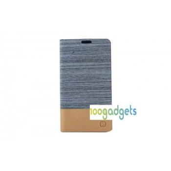 Тканевый чехол портмоне подставка на силиконовой основе для Samsung Galaxy S5 Mini