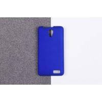 Пластиковый матовый непрозрачный чехол для Lenovo A319 Синий