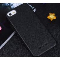 Кожаный чехол накладка Back Cover для Apple Iphone 5/5s/SE Черный