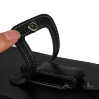Вертикальная кобура с клапаном на кнопке и креплением под пояс для Nokia Lumia 630/635 Черный