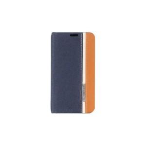 Текстурный чехол флип подставка для Nokia Lumia 630/635 Синий