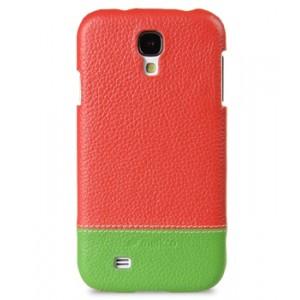 Кожаный чехол накладка двухцветная для Samsung Galaxy S4