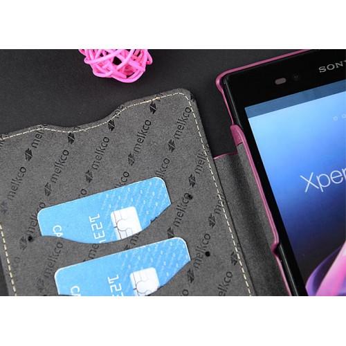 Кожаный чехол горизонтальная книжка с отделением для карт для Sony Xperia Z Ultra