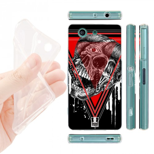 Силиконовый матовый дизайнерский чехол с эксклюзивной серией принтов для Sony Xperia Z3 Compact (изготовление на заказ)
