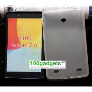 Силиконовый глянцевый чехол для LG G Pad 7.0 Белый