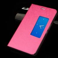 Чехол подставка с окном вызова для планшета Huawei MediaPad X1 Розовый