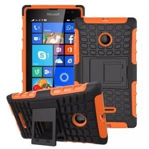 Антиударный силиконовый чехол экстрим защита с подставкой для Microsoft Lumia 435