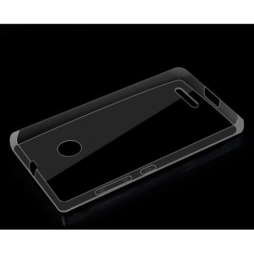 Силиконовый транспарентный чехол для Microsoft Lumia 435