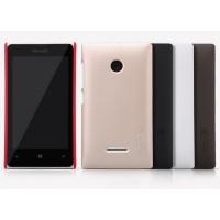 Пластиковый матовый нескользящий премиум чехол для Microsoft Lumia 435