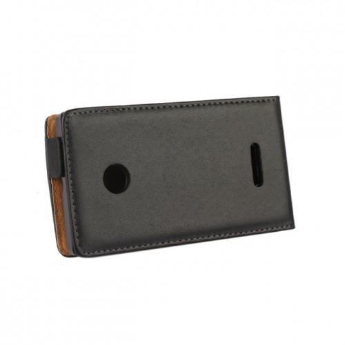 Чехол вертикальная книжка на пластиковой основе с магнитной застежкой для Microsoft Lumia 435