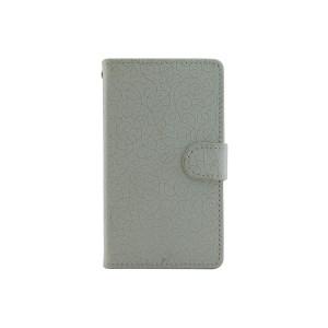 Текстурный чехол портмоне подставка с защелкой для Microsoft Lumia 435
