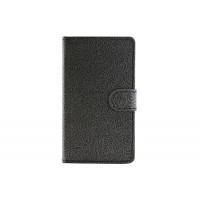 Текстурный чехол портмоне подставка с защелкой для Microsoft Lumia 435 Черный