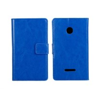 Чехол портмоне подставка с защелкой для Microsoft Lumia 435 Синий