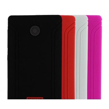 Силиконовый матовый непрозрачный нескользящий чехол для Nokia X