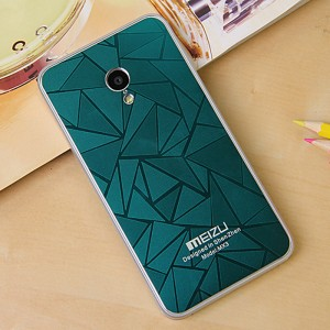 Дизайнерский узорный чехол для Meizu MX3 Зеленый
