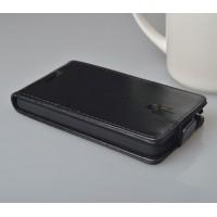 Чехол вертикальная книжка на пластиковой основе с магнитной застежкой для Lenovo S660 Черный
