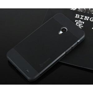 Двуцветный премиум силикон-пластик чехол для Meizu MX3 Черный