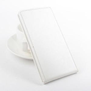 Чехол вертикальная книжка на силиконовой основе с магнитной застежкой для Lenovo A319 Белый