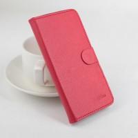 Чехол портмоне подставка на силиконовой основе с магнитной защелкой для Lenovo A328 Красный