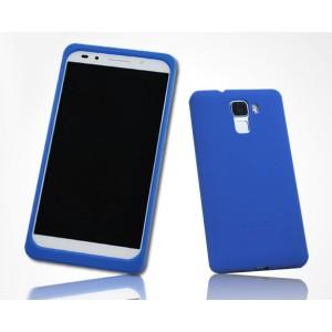 Силиконовый матовый софт-тач премиум чехол для Huawei Honor 7 Синий