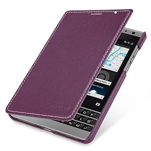 Кожаный чехол горизонтальная книжка (нат. кожа) для BlackBerry Passport Silver Edition