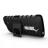 Антиударный силиконовый чехол экстрим защита с подставкой для LG Leon Черный