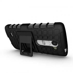 Антиударный силиконовый чехол экстрим защита с подставкой для LG Leon