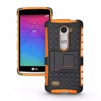 Антиударный силиконовый чехол экстрим защита с подставкой для LG Leon Оранжевый