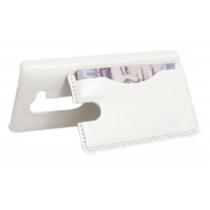 Чехол накладка подставка с отделением для карты для LG Leon Белый