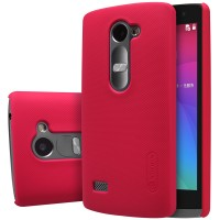 Пластиковый матовый нескользящий премиум чехол для LG Leon Красный