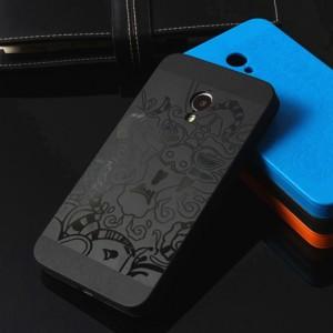 Силиконовый дизайнерский фигурный чехол для Meizu MX3 Черный