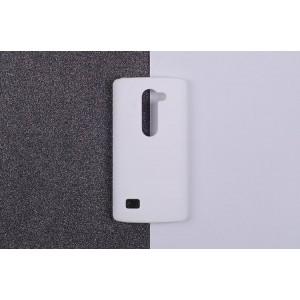Пластиковый матовый непрозрачный чехол для LG Leon