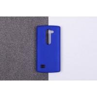 Пластиковый матовый непрозрачный чехол для LG Leon Синий
