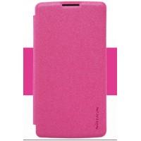 Чехол флип на пластиковой матовой нескользящей основе для LG Leon Пурпурный