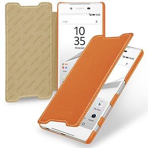 Кожаный чехол горизонтальная книжка (нат. кожа) для Sony Xperia Z5