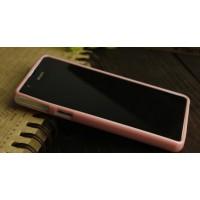 Силиконовый непрозрачный чехол для Sony Xperia ZR Розовый
