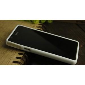 Силиконовый непрозрачный чехол для Sony Xperia ZR Белый