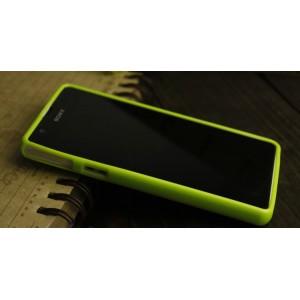 Силиконовый непрозрачный чехол для Sony Xperia ZR Зеленый