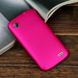 Пластиковый чехол серия Metallic для Lenovo A800 Пурпурный