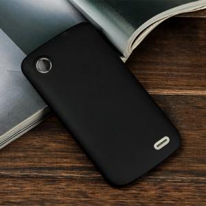 Пластиковый чехол серия Metallic для Lenovo A800 Черный