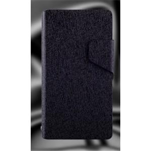 Текстурный чехол флип подставка на пластиковой основе для Sony Xperia ZR Черный