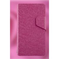Текстурный чехол флип подставка на пластиковой основе для Sony Xperia ZR Пурпурный