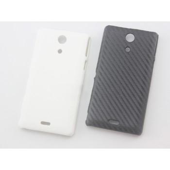 Пластиковый чехол с карбоновым покрытием для Sony Xperia ZR