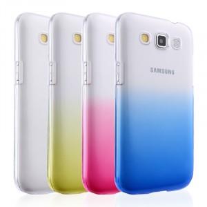 Пластиковый градиентный полупрозрачный чехол для Samsung Galaxy Win