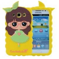 Силиконовый дизайнерский фигурный чехол для Samsung Galaxy Win